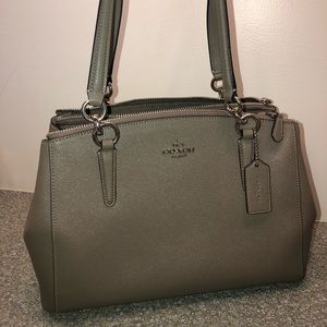 Coach Carryall in Taupe/Gray